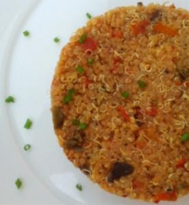 Pastís de quinoa